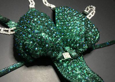 #77 green-black hologram 2 stones combo